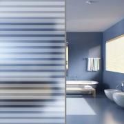 vidaXL Matná okenná fólia na vytvorenie súkromia, lepiaca, pruhy 0,9 x 10 m