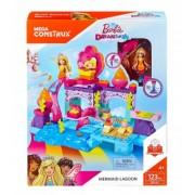 Mega Construx Barbie Mermaid Lagoon Playset FFW90 123 piese