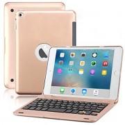iPad Mini 4 Keyboard Case, BoriYuan Bluetooth Wireless Keyboard Folio Flip Smart Cover For Apple iPad Mini 4 2015 Releas