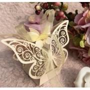Darčeková krabička Motýľ béžová