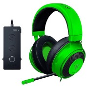 HEADPHONES, RAZER Kraken Tournament Ed., Gaming, Microphone,Full Audio Controls, THX Spatial, Green (RZ04-02051100-R3M1)