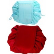 Glowing Buzz Cosmetic bag/ Latest collection/ TRavel kit/ Easy to carry/ For girls,women Travel Toiletry Kit(Blue, Red)