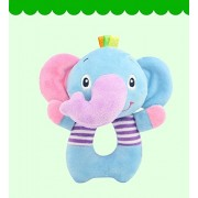 Baby Station Baby Toys O-Type Bells Early Education Puzzle Plush Toys Baby Hand Bell (Elephant)