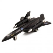 Kinsmart X Planes Air Force Sr 71 A Blackbird Die Cast Jet Plane Toy with Pull Back Action (Black)