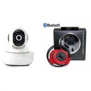 Mirza Wifi CCTV Camera and Mini 503 Bluetooth Headset for SAMSUNG GALAXY J5(Wifi CCTV Camera with night vision  Mini 503 Bluetooth Headset )