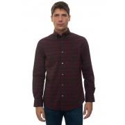 Gant Camicia casual Blu/bordeau Cotone Uomo