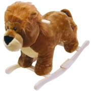 Happy Trails Lion Plush Rocking Animal Ride On