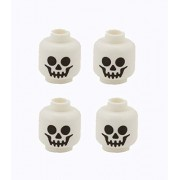 Lego Minifig Head, Skull, Standard Pattern, Set Of 4