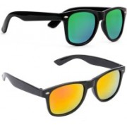 SRPM Round, Wayfarer Sunglasses(Green, Yellow)