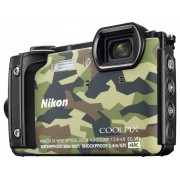 Nikon W300 Digitale camera 16 Mpix Camouflage WiFi, Waterdicht, 4K Video, GPS, Schokbestendig, Stofdicht, Bluetooth, Full-HD video-opname