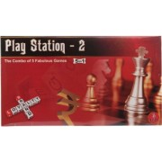 Ramadoo® YT Play Station - 2 ( 5 in 1 ) Board Game ( 16 in 1 Board game includes business, brainvita, snakes & ladder, ludo, derby, tic-tac-toe, climb the ladders, james bond007, cricket, football, holiday, mountain race, turn pick trip, car race, traesur