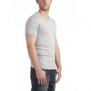 Garage T-Shirt V-neck semi bodyfit light grey ( art 0302) - Licht Grijs - Size: Small