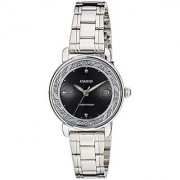 Casio Enticer Analog Black Dial Womens Watch - LTP-E120D-1ADF (A1040)