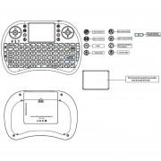 EB IPazzPort KP21 Touchpad Inalámbrico Y Mango De Teclado English Version-blanco