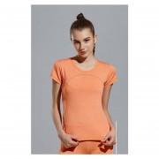 Running Sports Camiseta Yoga Gym Fitness Tee Tops Quick Dry - Naranja