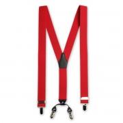 Bretele bărbătești clasice 8698 în culoarea roșu