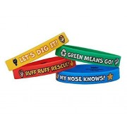 AMERICAN GREETINGS Paw Patrol Rubber Bracelets, Party Supplies (4 Count)
