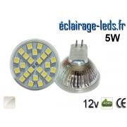 Ampoule LED MR16 24 led smd 5050 blanc naturel 12v