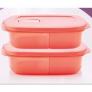 Új generációs polytupper osztott edény 1 L melone 2 db Tupperware