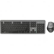 Kit tastatura + mouse wireless Trust Raza, Gri/Negru