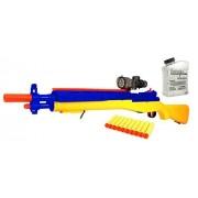 ToysMax YK Hero M14 Sniper Spring Powered Toy Foam Dart & Water Polymer Ball Shooting Gun w/ 10 Suction Darts, Clear Balls