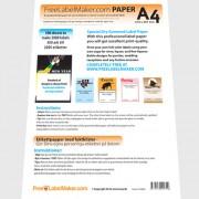 Etikettpapper A4 gummerade (fuktas), 500 ark för egna etiketter