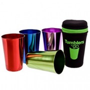 Portable Retro Tumblers to Go