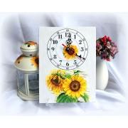 Ceas pe panza floarea soarelui - 8701