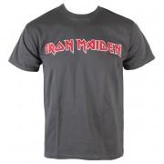 Herren T-Shirt Iron Maiden - Classic Logo - Charcoal - ROCK OFF - IMTEE49MC