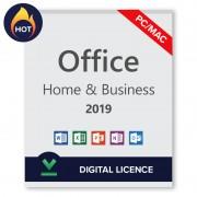 Microsoft Office 2019 Home and Business - Licencia digital transferible para PC/Mac - Software para descargar