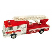 Playking Sonic Die Cast Metal Ladder Fire Truck 7000, Design & Color May Vary
