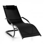 Sunwave Sedia A Sdraio Da Giardino Relax In Alluminio Nera