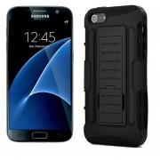 Funda Samsung G935 Galaxy S7 Edge Robot Uso Rudo Con Clip - Negro