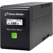 PowerWalker UPS POWER WALKER LINE-INTERACTIVE 800VA 3X IEC 230V,PURE SINE WAVE,RJ11/45 IN/OUT,USB,LCD (Pe?na sinusoida)