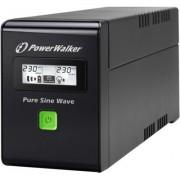PowerWalker UPS POWER WALKER LINE-INTERACTIVE 800VA 3X IEC 230V,PURE SINE WAVE,RJ11/45 IN/OUT,USB,LCD (Pe?na sinusoida) - DARMOWA DOSTAWA!!!