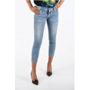 Dsquared2 Jeans MEDIUM WAIST CROPPED TWIGGY in Denim Stretch taglia 40