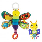 Lamaze - Freddie The Firefly, Play with Sound and Touch Bright Colors, Interesting Textures, A Self-Discovery Mirror Teether, Clips to Carriers Strollers, 0 Months Older