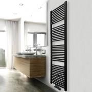 Douche Concurrent Designradiator Elara 181.7x60cm 1067W Mat Zwart Middenonderaansluiting