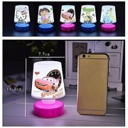 Cartoon Printed LED Night Lamps Perfect for Your Kids Room / Return Gift / Birthday Gifts Online (Pack of 2)