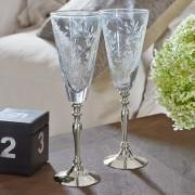 LOBERON Champagneglazen set van 2 Coralie / helder/zilverkleurig