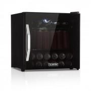 Klarstein Beersafe L Onyx, хладилник за напитки, A+, LED, метални рафтове, стъклена вратичка, черен (HEA-BeersafeL-Onyx)