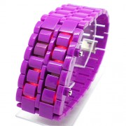 The Iron Samurai PURPLE - Orologio a LED