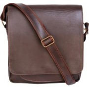 Bagged for Good BFG011BRW Sling Bag(Brown, 10 inch)
