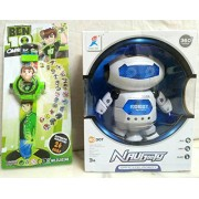 PLAY DESIGN Robot 360 Rotating & PROJECTOR WATCH (24 Images) COMBO PACK