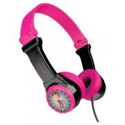 JLab Audio - JBuddies Folding Wired On-Ear Headphones - Black/Pink