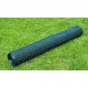vidaXL Šesterokutna žičana mreža 75 cm x 25 m obložena PVC debljina 0,9 mm