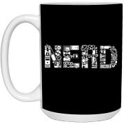 Nerd - Doodle Art - 15 oz. White Mug - 64