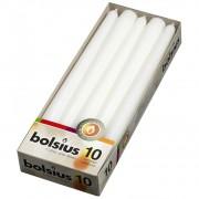 Bolsius gotische kaarsen 10 stuks wit 24,5 cm