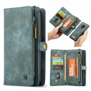 CASEME Multifunctional Wallet Split Leather Phone Cover for Samsung Galaxy S9 - Green