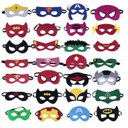 letmore Superheroes Party Masks,28 Piece Felt Mask Birthday Party Supplies Cosplay Toy for Children/ Kids /Adults